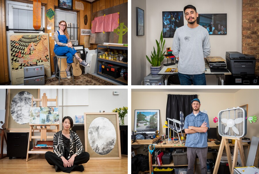 Four portraits of 2019-20 Carter Community Artists