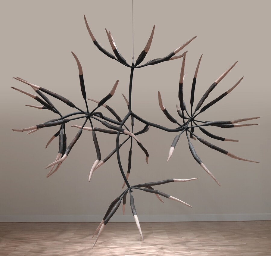 James Surls (b. 1943), Seven and Seven Flower, 1998, pine, limbs, and steel