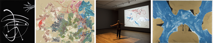 four works by women on view in an exhibition at the Amon Carter