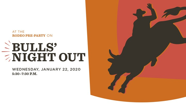 Event graphic of cowboy on bull