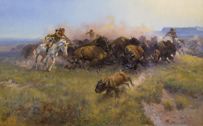 Charles M. Russell, The Buffalo Hunt [No. 39], 1919