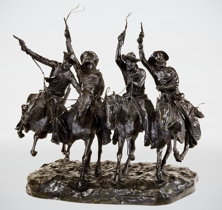 Frederic Remington (1861–1909), Coming Through the Rye, ca. 1916, Bronze,