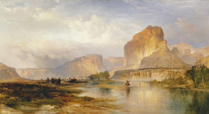 Thomas Moran, Cliffs of Green River, 1874