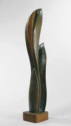Robert Laurent (1890–1970), Plant Form, ca. 1924, Stained fruitwood