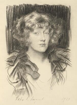 John Singer Sargent (1856–1925), The Hon. Clare Stuart Wortley, 1923, Charcoal on paper
