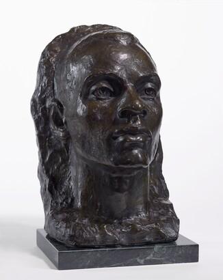 Richmond Barthé (1901–1989), The Art Foundry, The Negro Looks Ahead, 1986, Bronze on marble base