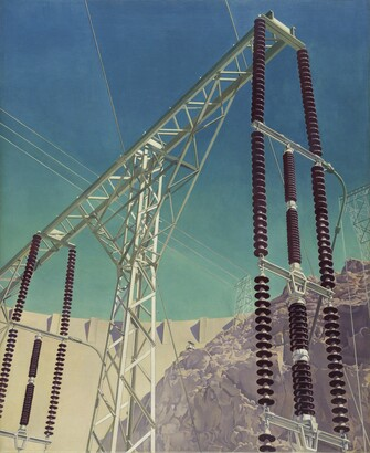 Charles Sheeler (1883–1965), Conversation - Sky and Earth, 1940, Oil on canvas