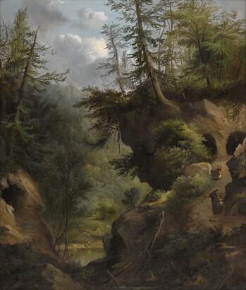 Robert Seldon Duncanson (1821–1872), The Caves, 1869, Oil on canvas