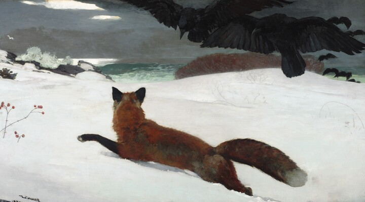 Winslow Homer (1836–1910), Fox Hunt, 1893, oil on canvas