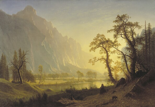 Albert Bierstadt, Sunrise, Yosemite Valley, ca. 1870