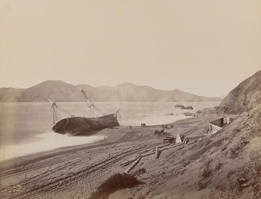 Carleton E. Watkins (1829–1916), The Wreck of the Viscata, 1868, Albumen silver print