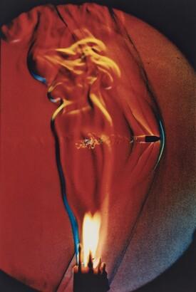 Harold Eugene Edgerton (1903–1990)J. Kim Vandiver (b. 1945), Bullet thru Flame, 1973, Dye coupler print