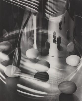 Carlotta M. Corpron (1901–1988), Eggs Encircled, after 1948, Gelatin silver print