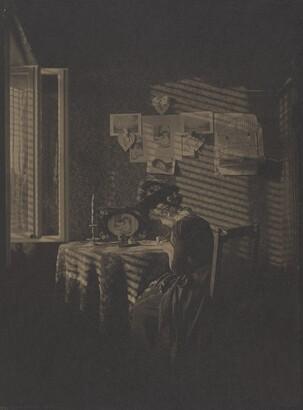 Alfred Stieglitz (1864–1946), Sun Rays -- Paula (Berlin 1889), ca. 1916, Platinum print