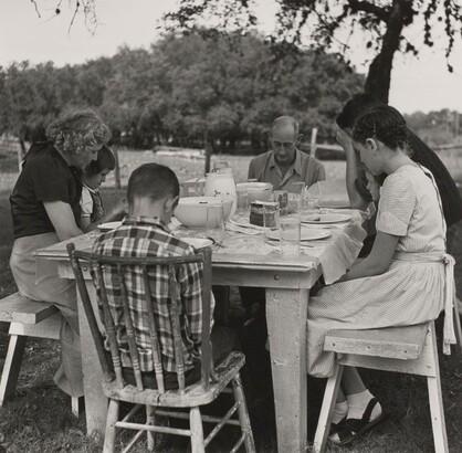 Morris Engel (1918–2005), Buda, Texas. Dairy Farmer—Rylander Family, 1949