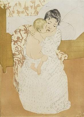 Mary Cassatt (1844–1926) Maternal Caress 1890–91