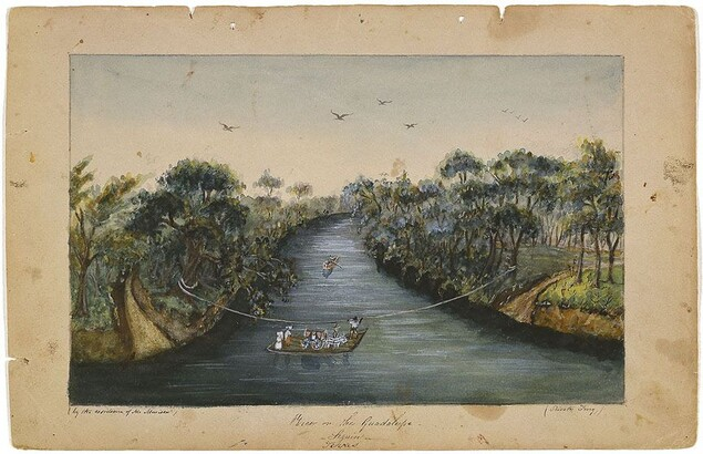 Sarah Ann Lillie Hardinge (1824–1913) View on the Guadalupe, Seguin, Texas 1853