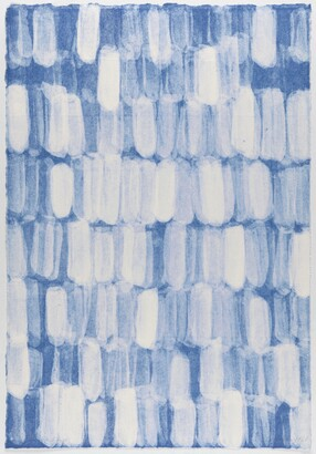 blue and white abstraction
