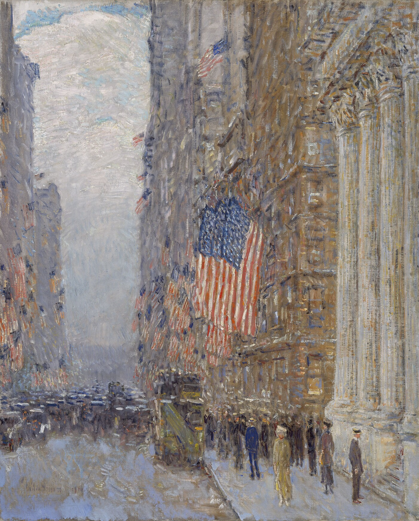 Childe Hassam, Flags on the Waldorf, 1916