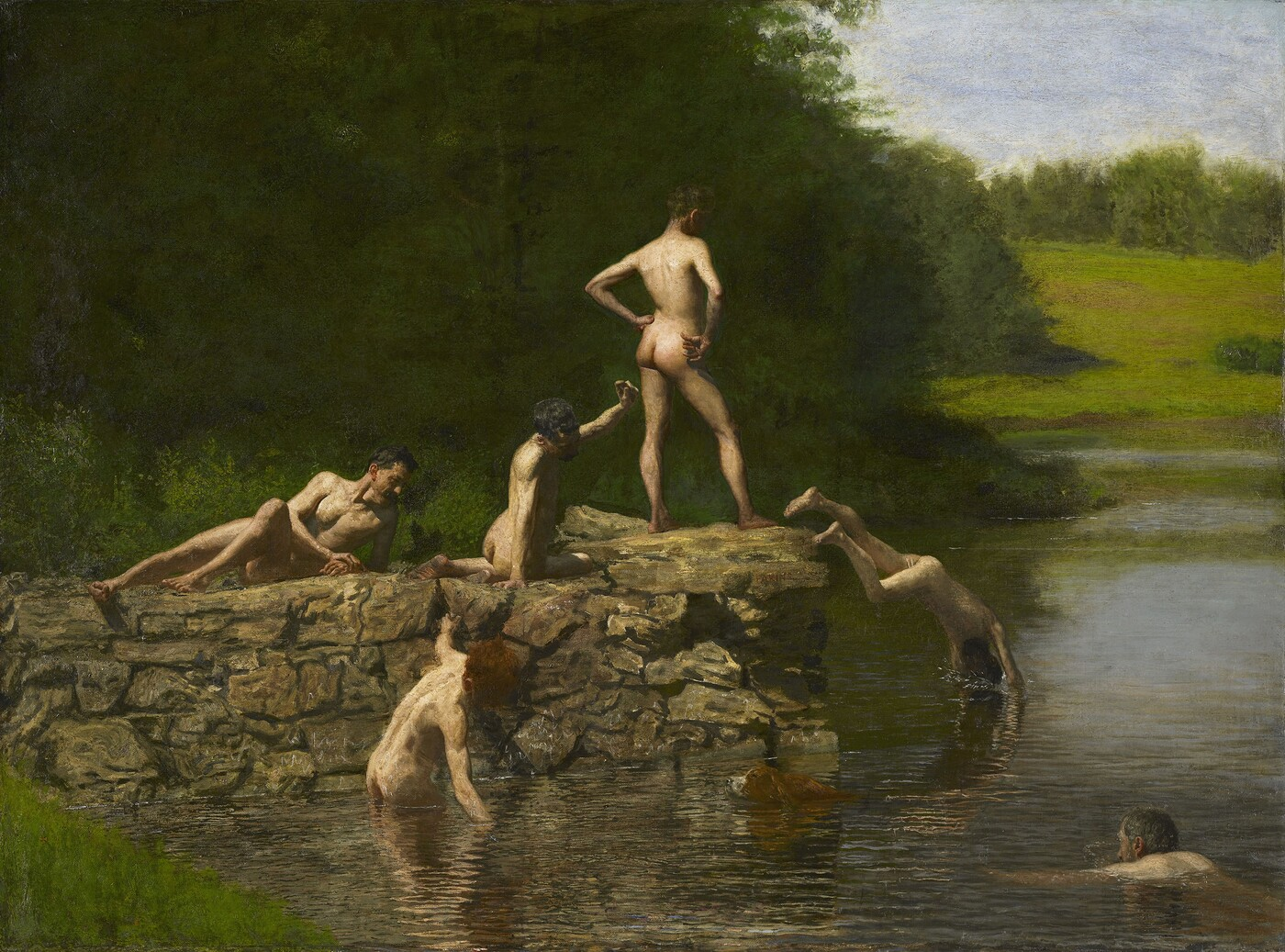 Thomas Eakins (1844–1916), Swimming, 1885, Oil on canvas