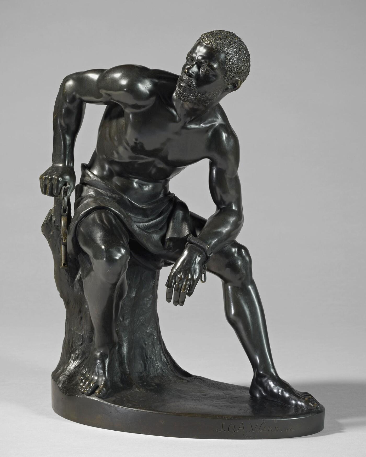 John Quincy Adams Ward (1830–1910), The Freedman, 1863, Bronze