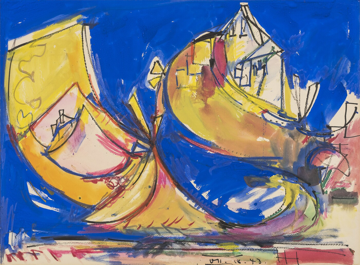 Hans Hofmann (1880–1966), Untitled, 1943, Tempera, transparent watercolor, crayon, and ink on paper