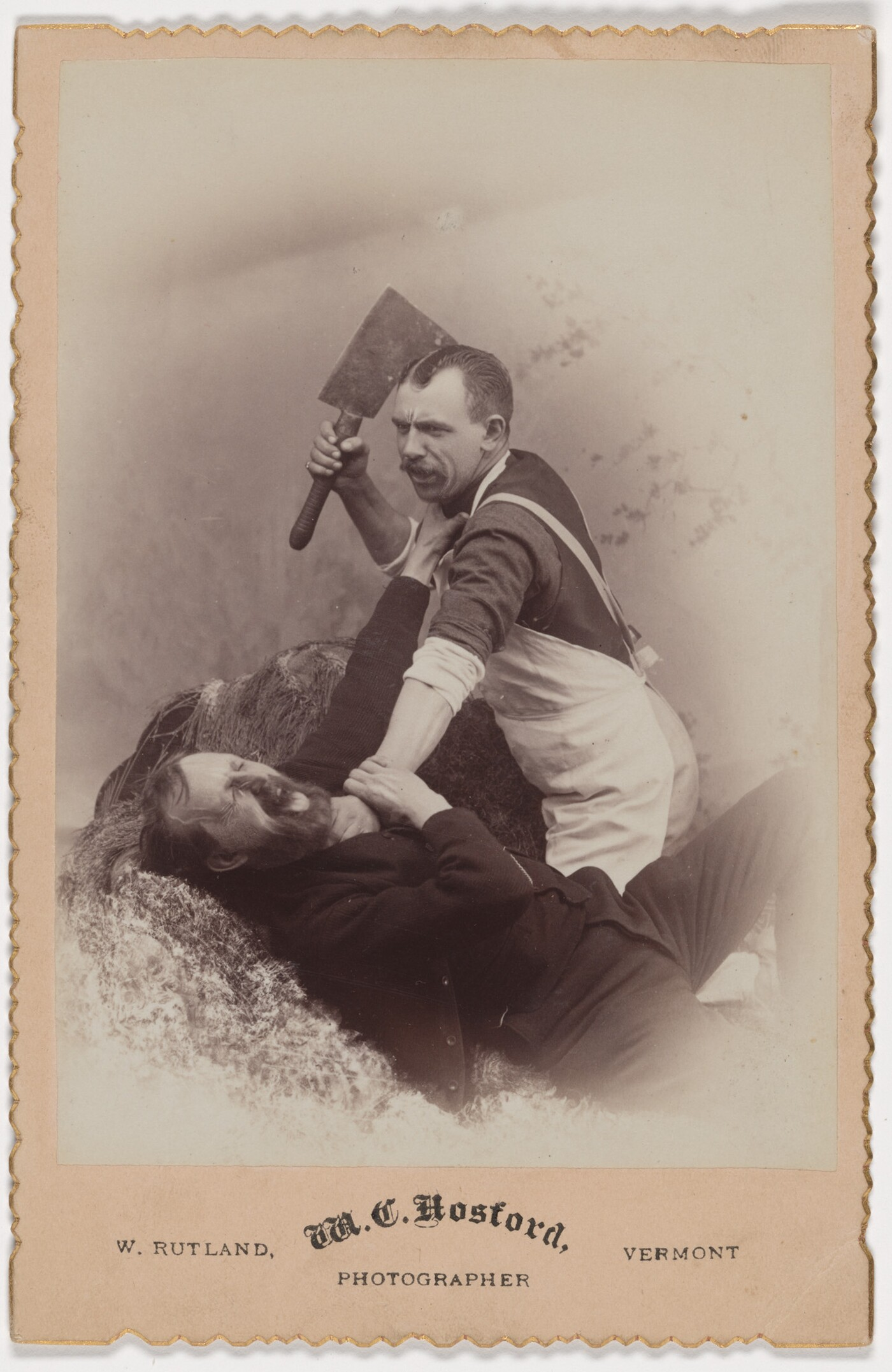 M.C. Hosford, [Getting the cleaver], 1880s, albumen silver print