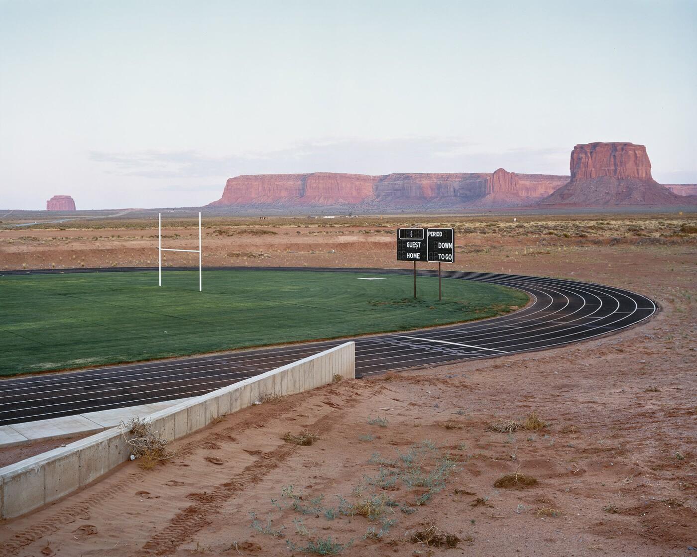 Skeet McAuley (b. 1951), Navajo Monument Valley Tribal School near Goulding, Utah, 1986, Dye destruction print