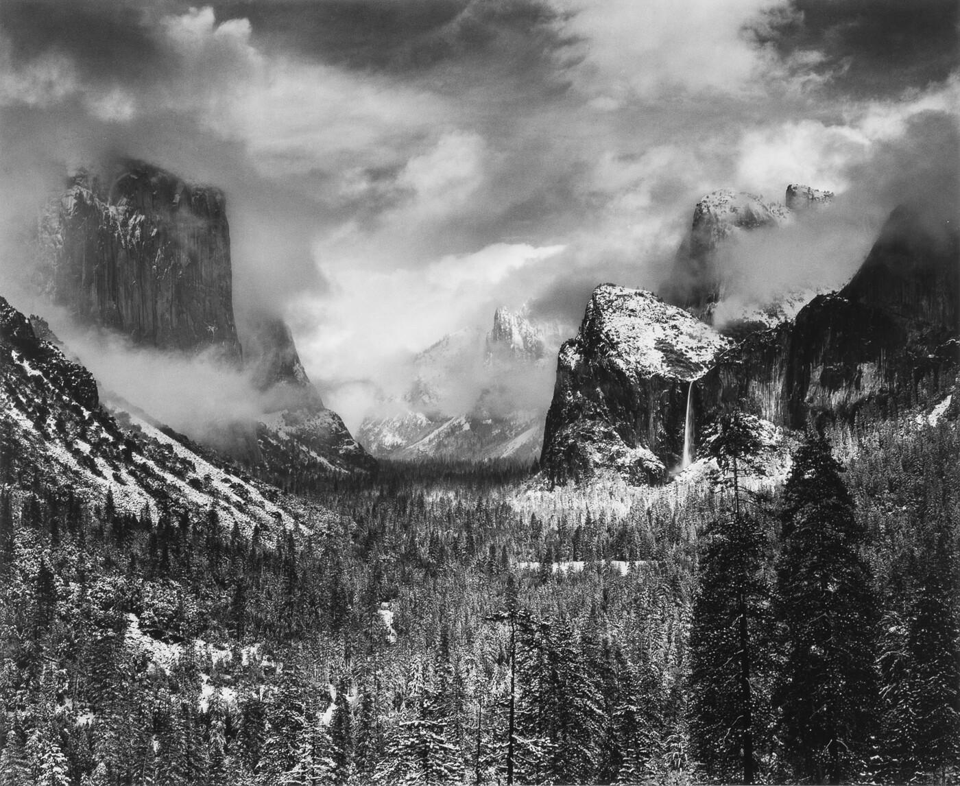 Ansel Adams (1902–1984), Clearing Winter Storm, Yosemite National Park, before 1975, Gelatin silver print