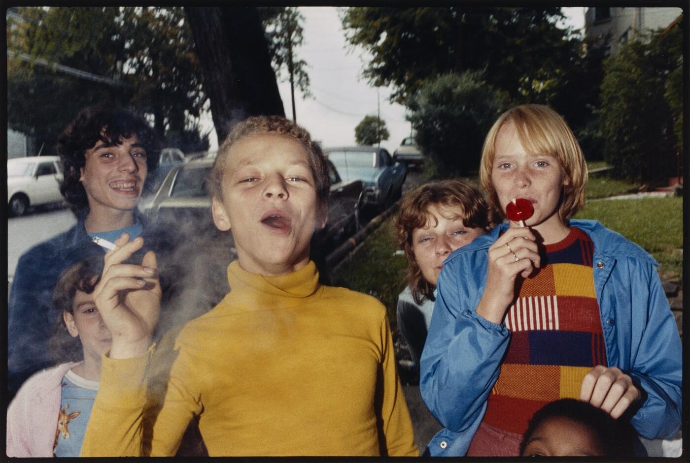 Mark Cohen (b. 1943), Boy in Yellow Shirt Smoking, Scranton, PA, 1977, 2005, Dye coupler print