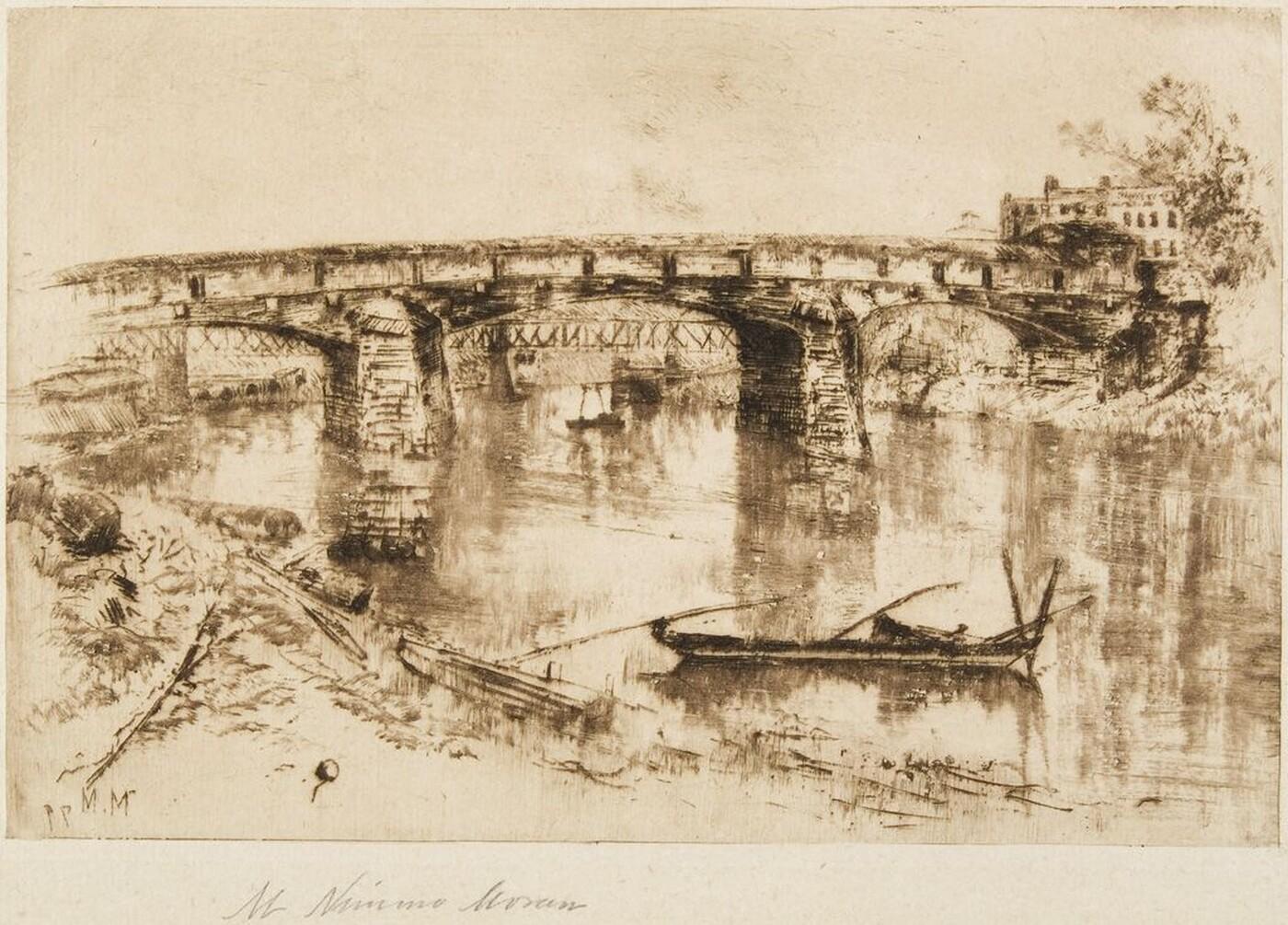 Mary Nimmo Moran (1842–1899) Bridge Over the Delaware, Easton, PA 1879