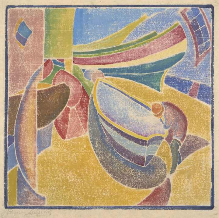 Blanche Lazzell, Four Boats, 1919