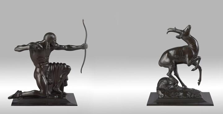 Paul Manship (1885–1966), Gorham Manufacturing Company, Indian Hunter, 1915, Bronze