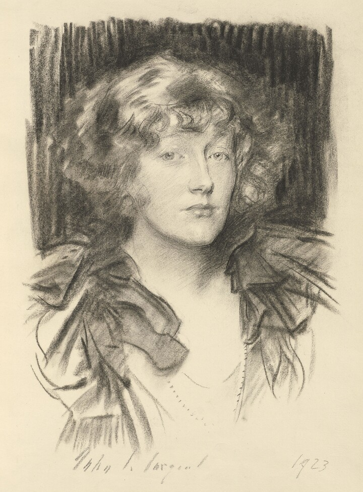 John Singer Sargent (1856–1925), The Hon. Clare Stuart Wortley, 1923, Charcoal on paper
