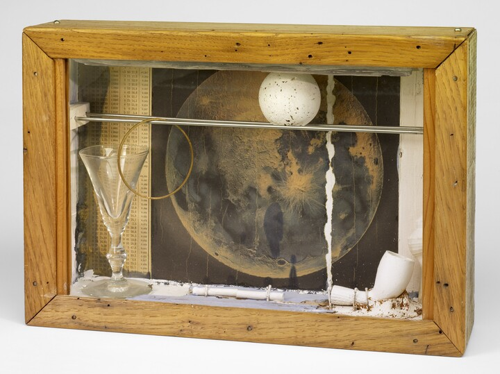 Joseph Cornell (1903–1972), Soap Bubble Set (Lunar-Space Object), ca. 1959, Mixed media