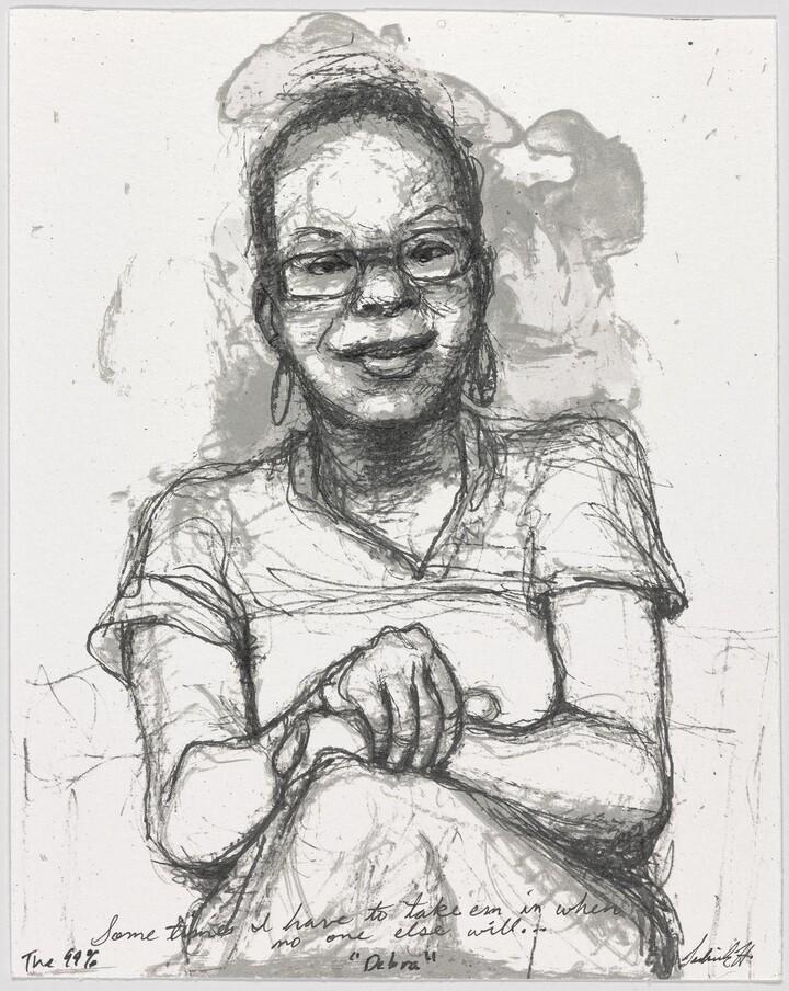 Sedrick Huckaby (b. 1975), #008 Debra, 2012, Lithograph