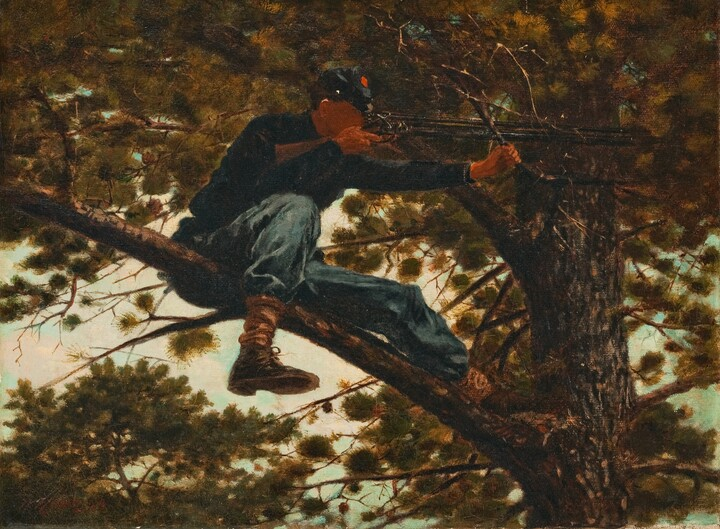 Winslow Homer (1836–1910), Sharpshooter, 1863, oil on canvas