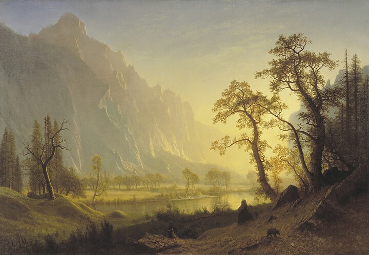 Albert Bierstadt, Sunrise, Yosemite Valley, ca. 1870