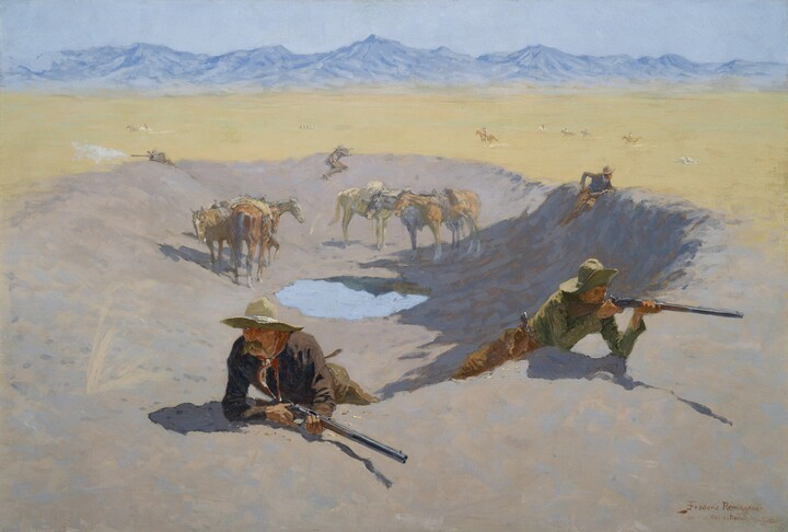 Frederic Remington, Fight for the Waterhole, 1903