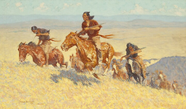 Frederic Remington, The Buffalo Runners--Big Horn Basin, 1909