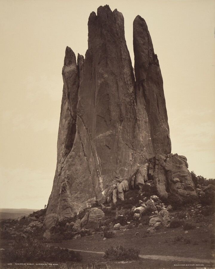 William Henry Jackson (1843–1942), Tower of Babel, Garden of the Gods, ca. 1880, Albumen silver print