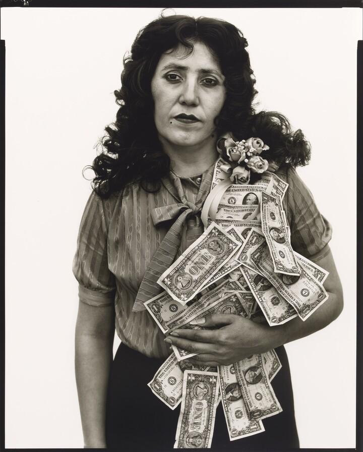 Richard Avedon (1923–2004), Petra Alvarado, factory worker, El Paso, Texas, on her birthday 4/22/82, 1985, Gelatin silver print