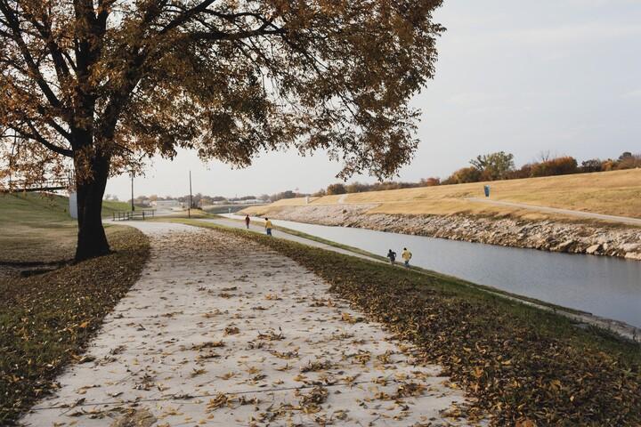 Terry Evans (b. 1944), Running, West Fork near White Settlement Road, Trinity River, November 21, 2013, 2014, Inkjet print