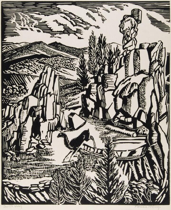 Florence Elliott McClung (1894–1992) Devil's Gulch, ca. 1945