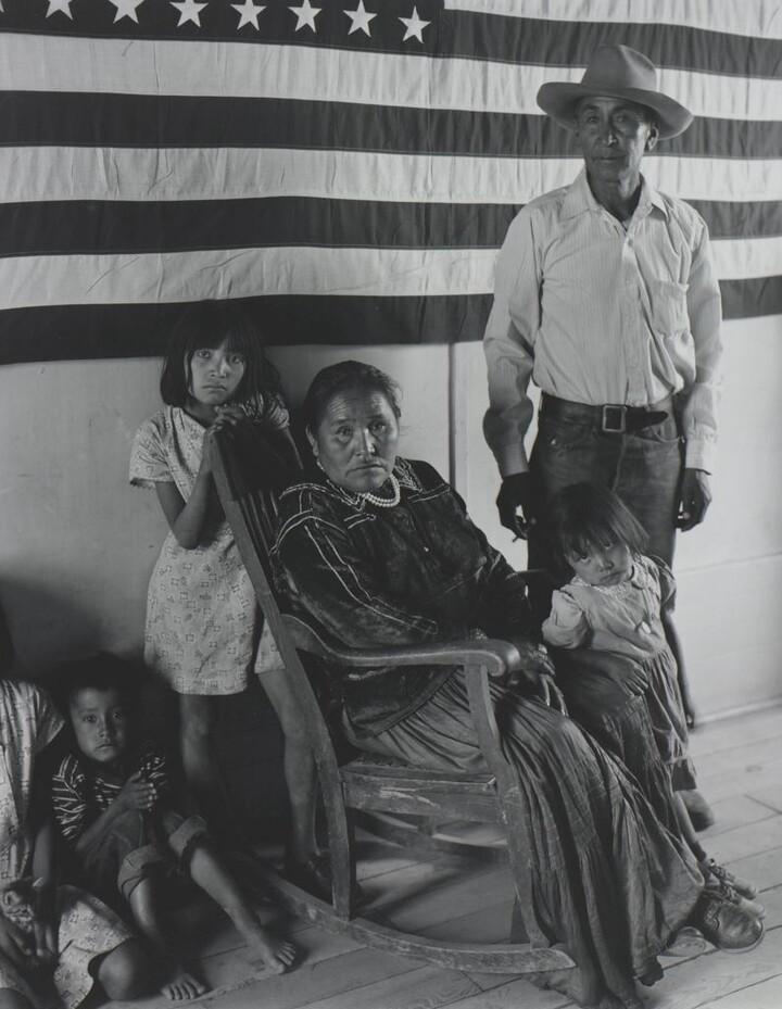 Laura Gilpin (1891–1979), Francis Nakai and Family, 1950