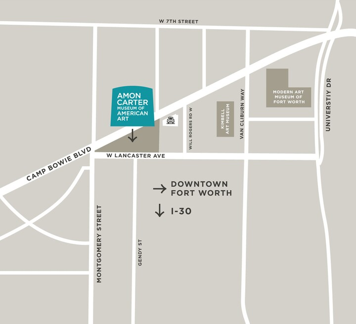 map graphic for Amon Carter