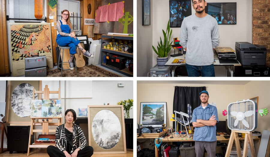 Four portraits of 2019-20 Carter Community Artists